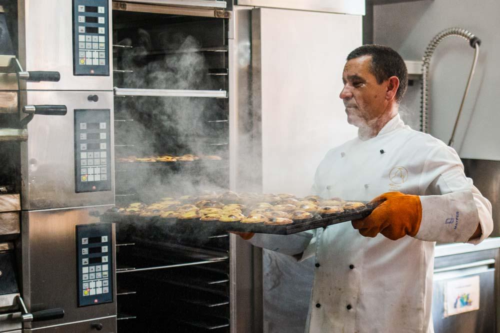 Baker at Pastelaria San Antonio in Lisbon