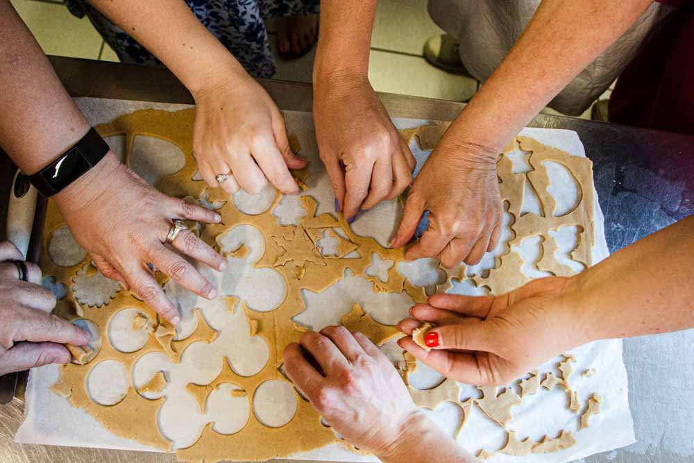 Baking Cookies at Locanda Alpina in Trentino