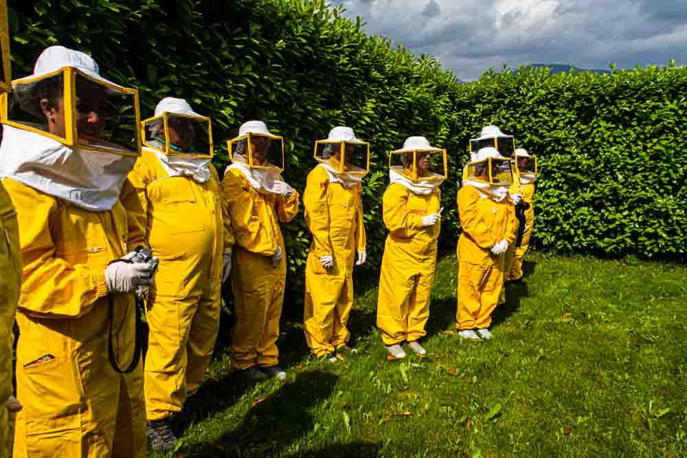 Beekeepers at Mieli Thun in Trentino
