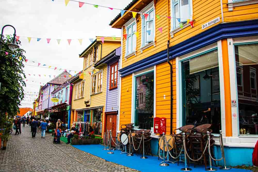 Colorful Street in Stavanger Norway
