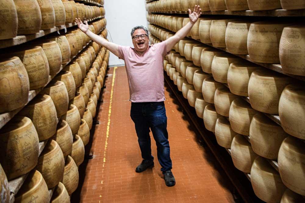 Daryl at Coredo Cheese Factory in Trentino