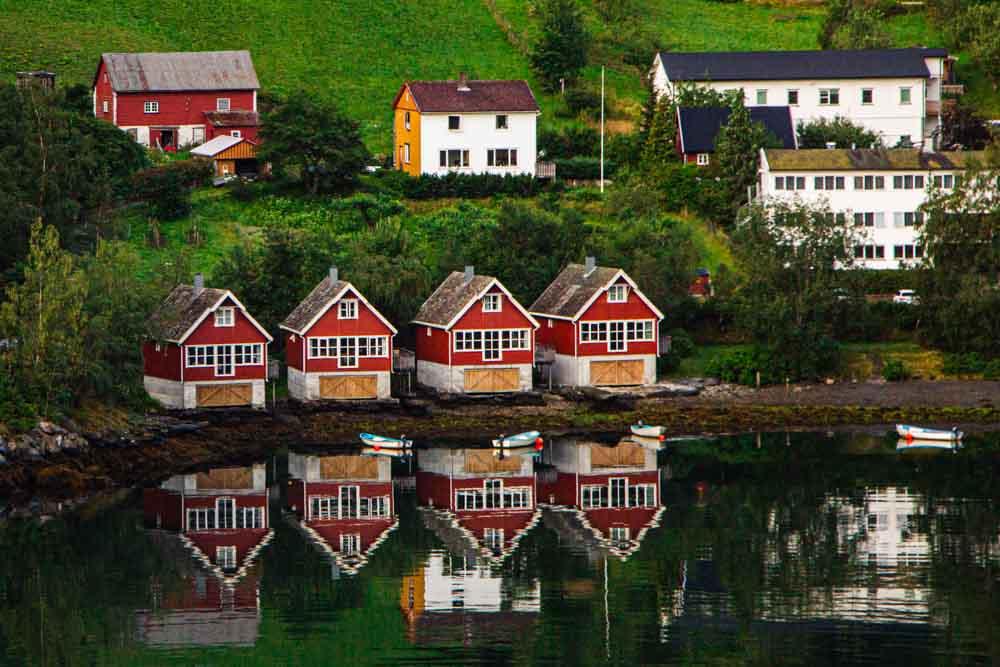 Harbor in Flam Norway