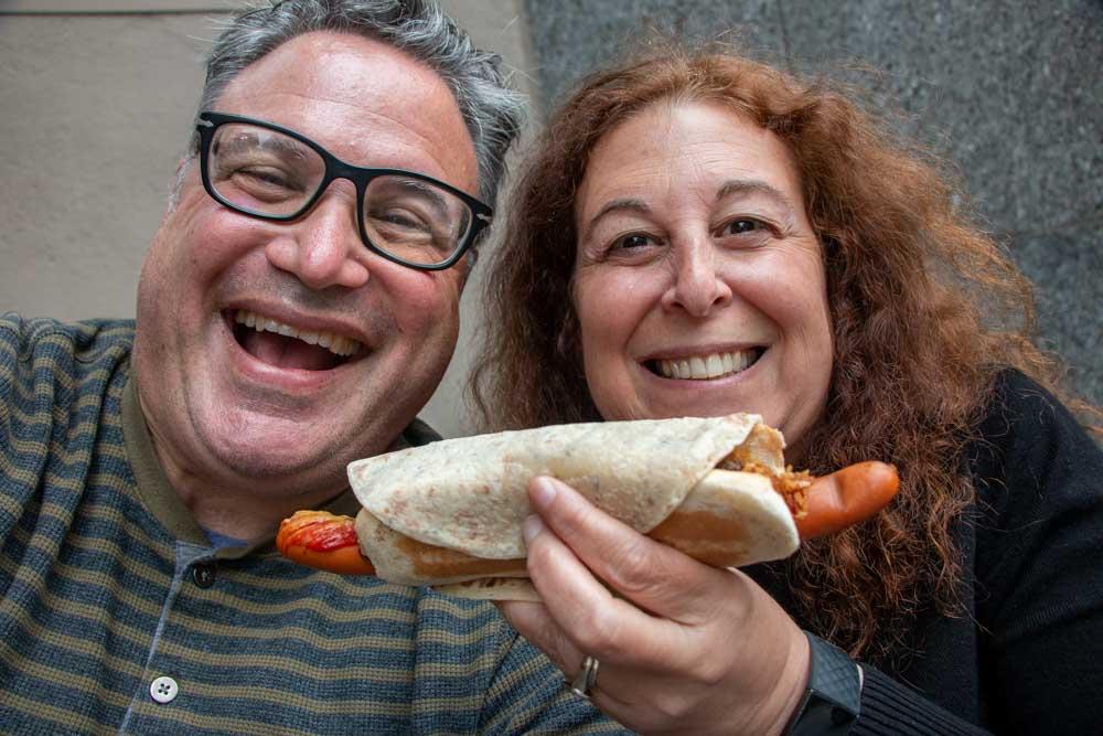 Hot Dog Selfie in Oslo Norway