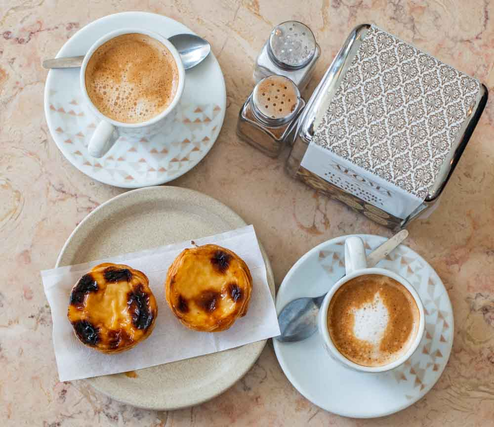 Pasteis de Nata and Coffee at Aloma in Lisbon