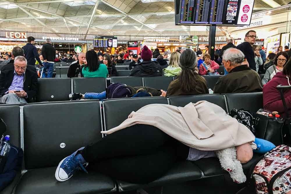 Stansted Airport Waiting Area
