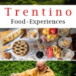 Pinterest image: three images of Trentino with caption reading 'Trentino Food Experiences'