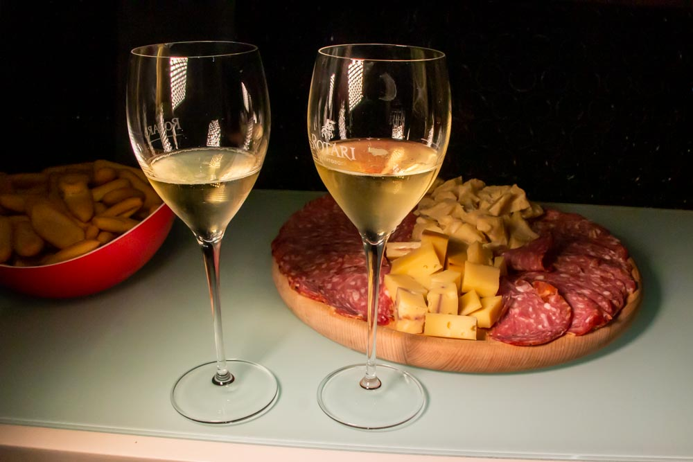 Wine and Snacks in Trentino