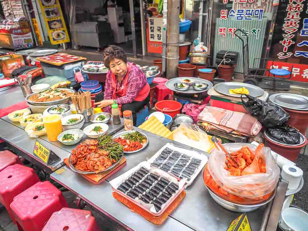 Gukje Food Street in Busan