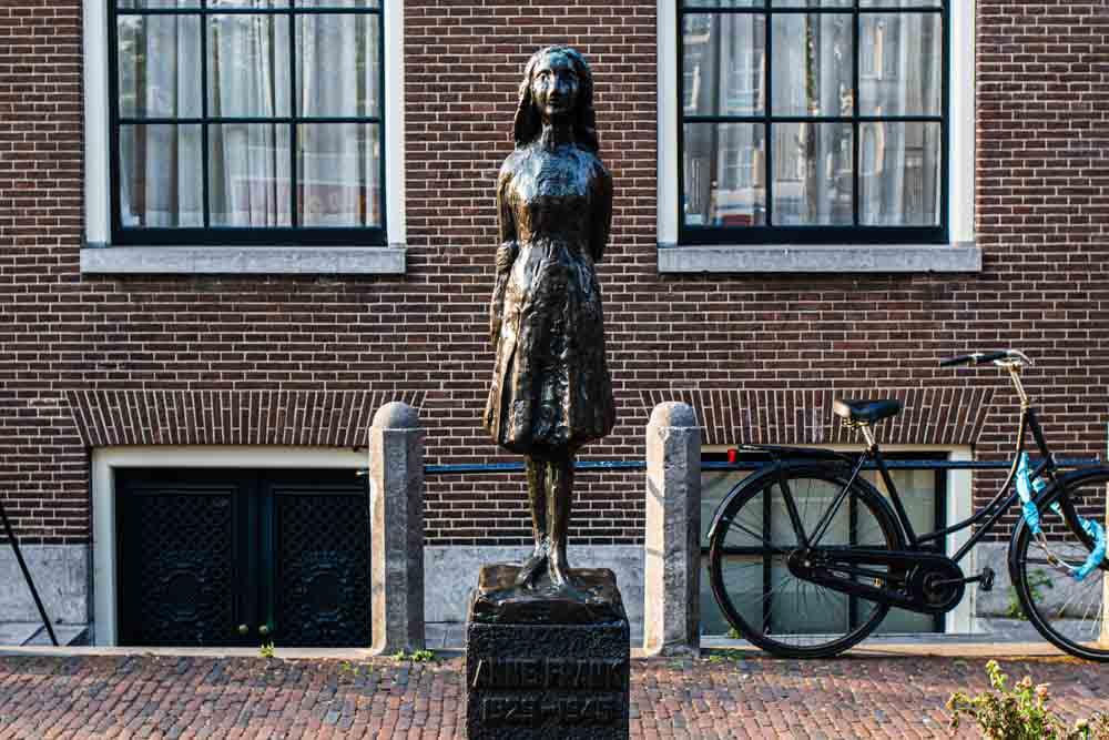 Anne Frank Statue in Amsterdam