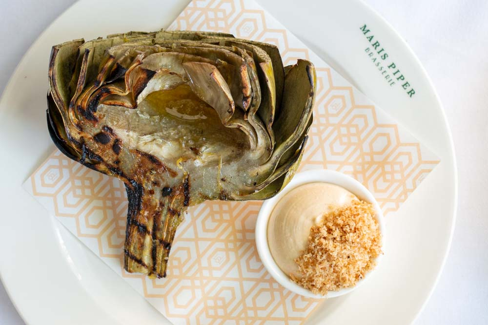 Barbecued Artichoke at Maris Piper Brasserie in Amsterdam