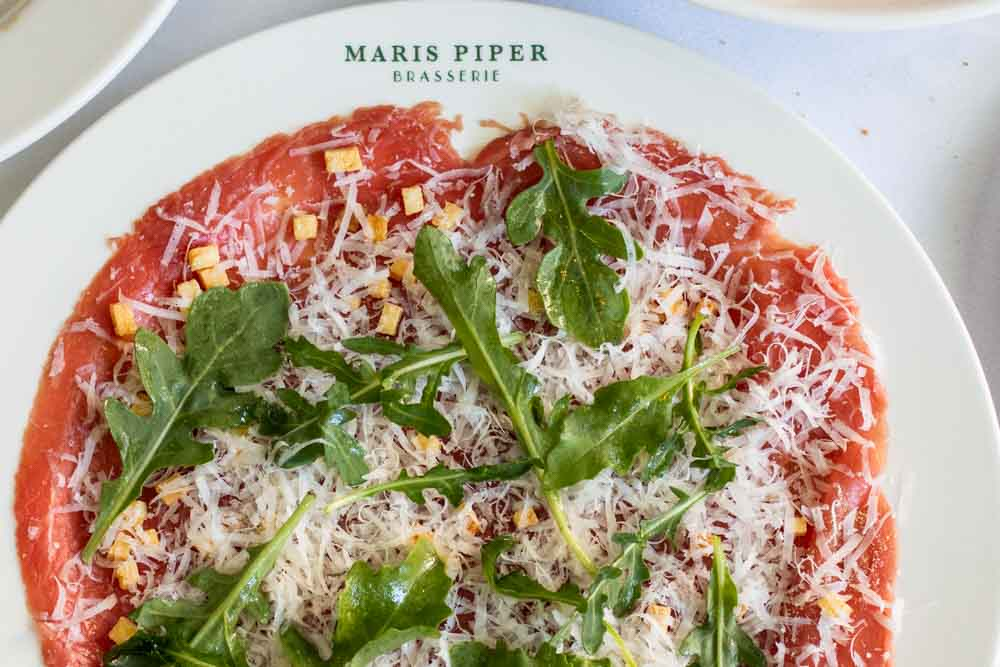 Beef Carpaccio at Maris Piper Brasserie in Amsterdam