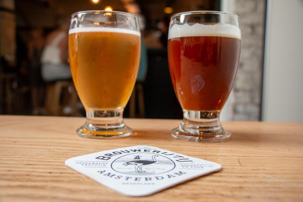 Beers at Brouwerij T IJ in Amsterdam