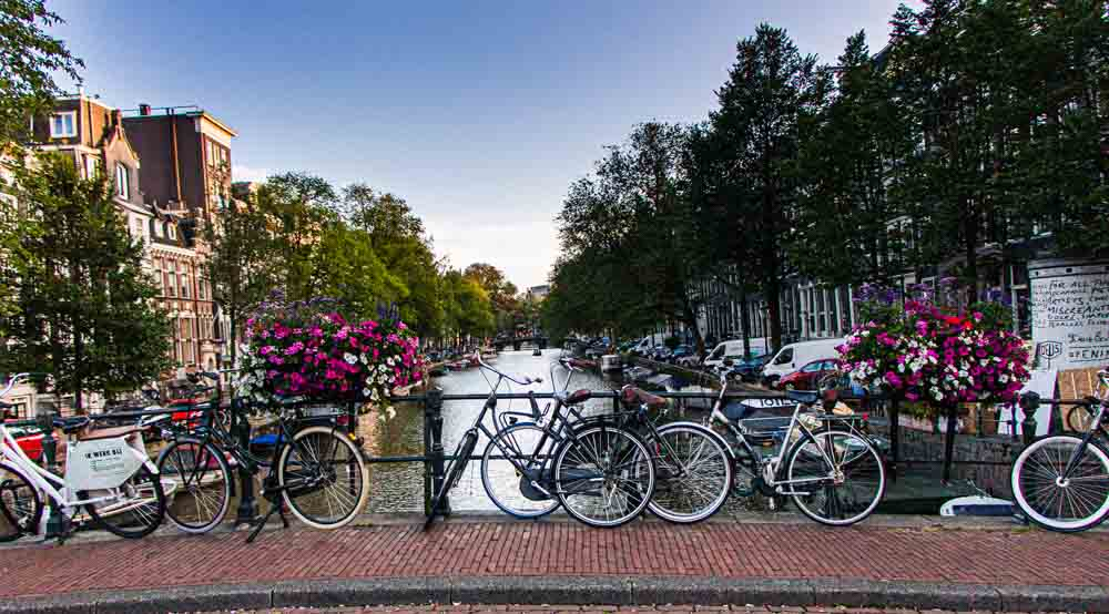 Bikes by Amsterdam Canal