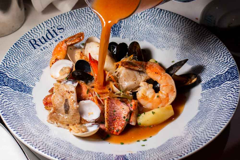 Bouillabaisse Marseillais at Rudis Sel de Mer on Nieuw Statendam Holland America Norway Cruise