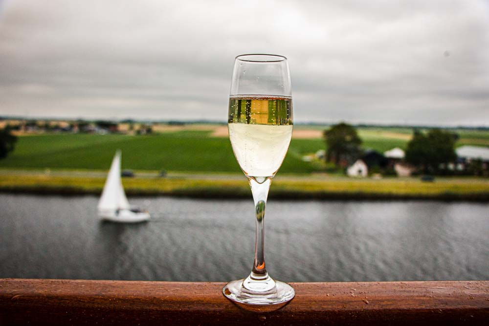 Champagne on Nieuw Statendam Holland America Norway Cruise