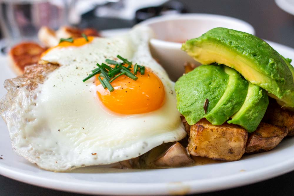 Eggs and Avocado at Bakers and Roasters in Amsterdam