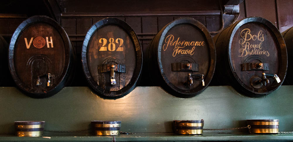 Jenever Barrels at at De Drie Fleschjes in Amsterdam