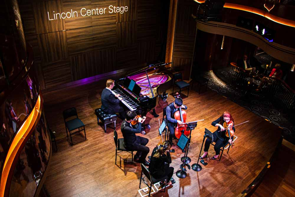 Lincoln Center Stage on the Nieuw Statendam Holland America Norway Cruise