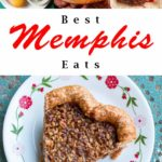Pinterest image: four images of Memphis food with caption reading 'Best Memphis Eats'