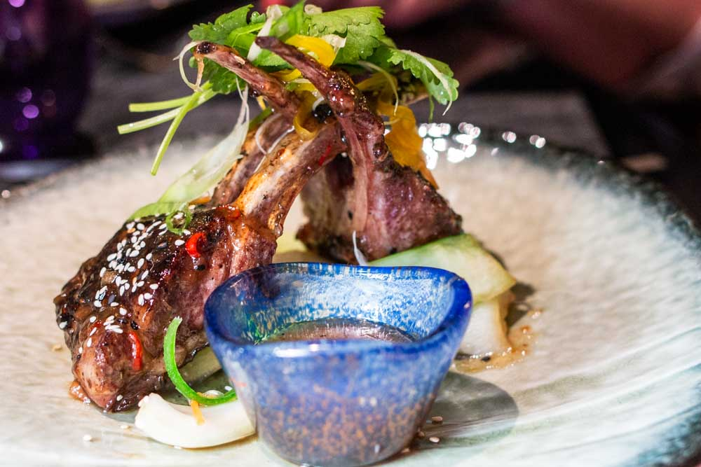 Mongolian Barbecue Lamb Chops at Tamarind on Nieuw Statendam Holland America Norway Cruise