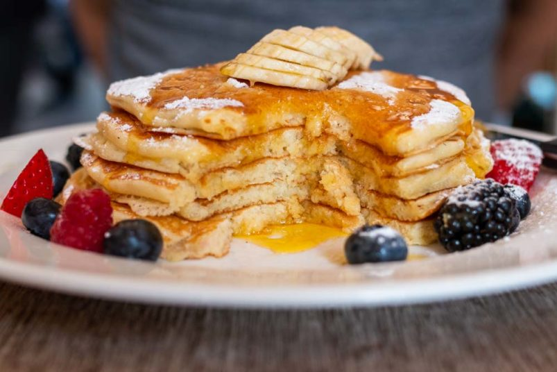 Pancake Stack at The Breakfast Club in Amsterdam