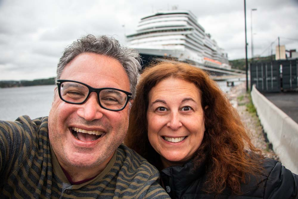 Port Selfie on Nieuw Statendam Holland America Norway Cruise