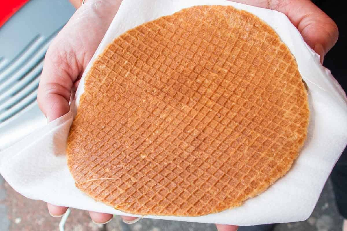 Stroopwafel at Albert Cuyp Market in Amsterdam