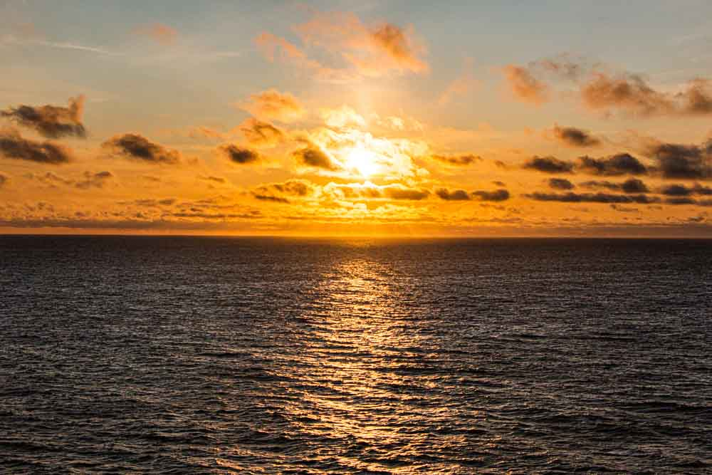Sunset on Nieuw Statendam Holland America Norway Cruise