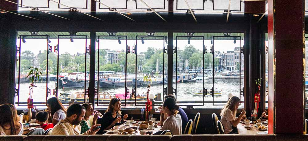 View from Sea Palace Restaurant in Amsterdam