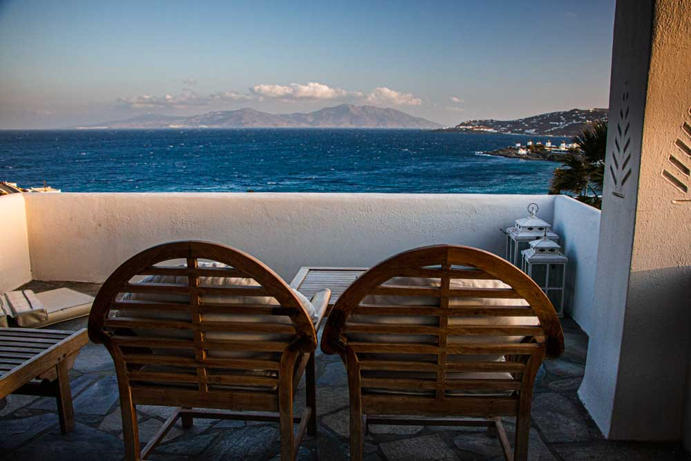 Balcony at Villa Hurmuses in Mykonos