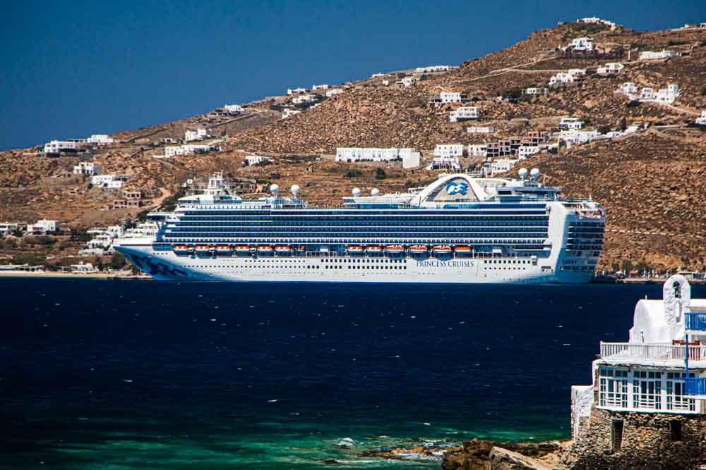 Cruise Ship in Mykonos