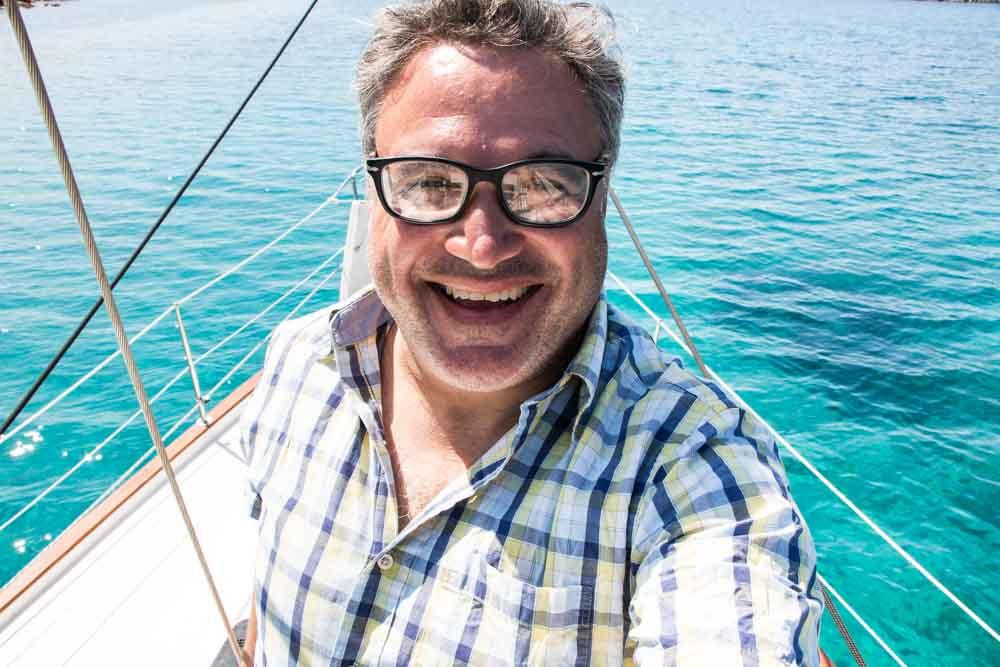 Daryl on Mykonos Boat Tour