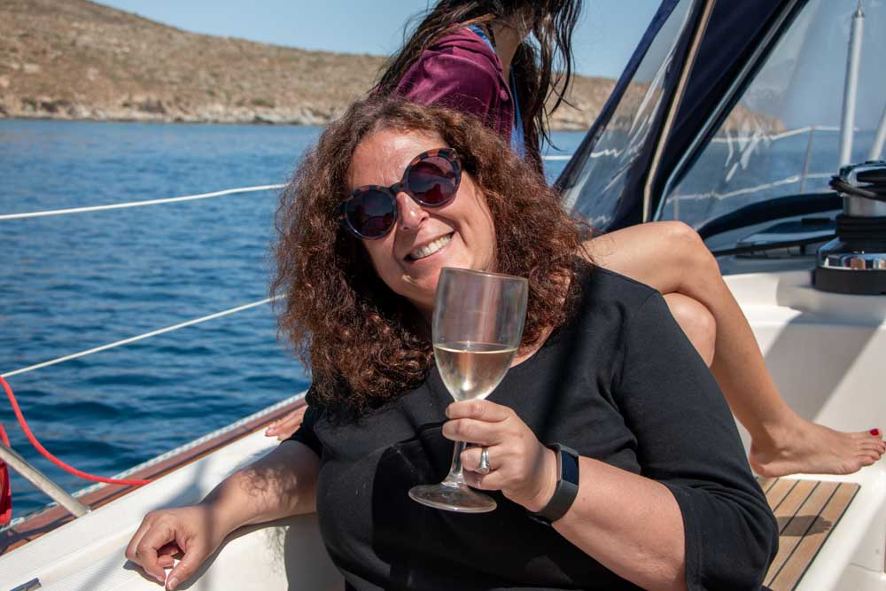 Mindi on Mykonos Boat Tour