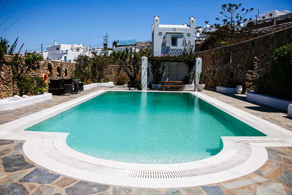 Pool at Villa Hurmuses in Mykonos