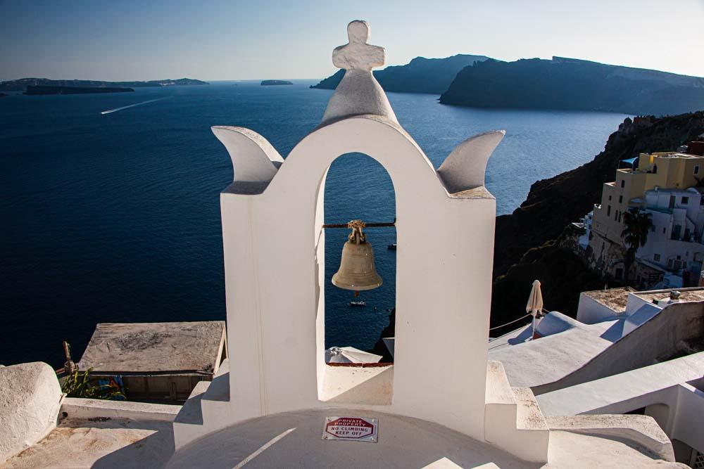 Bell in Oia in Santorini