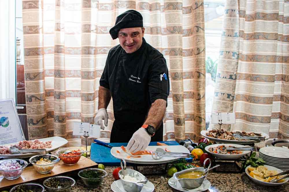 Chef at Rodos Palladium in Rhodes