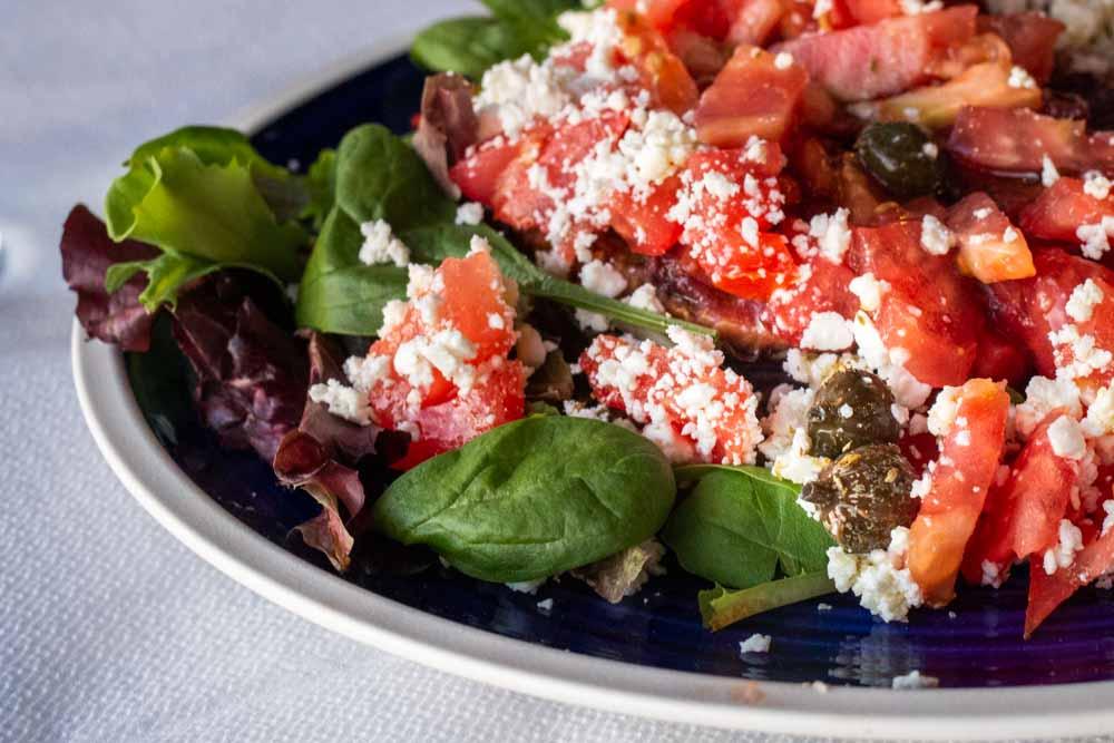 Cretan Daco Salad at Dimitris Ammoudi in Santorini