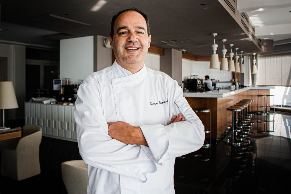 Executive Chef George Troumouchis, at Noble Gourmet Restaurant in Rhodes