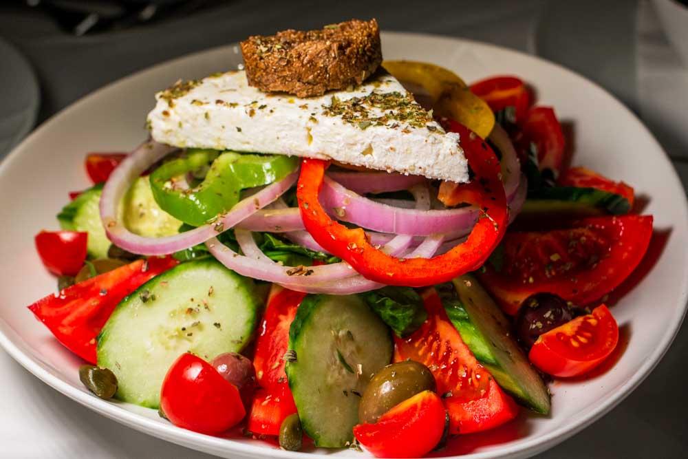 Horiatiki Salad at Thalassa in Rhodes