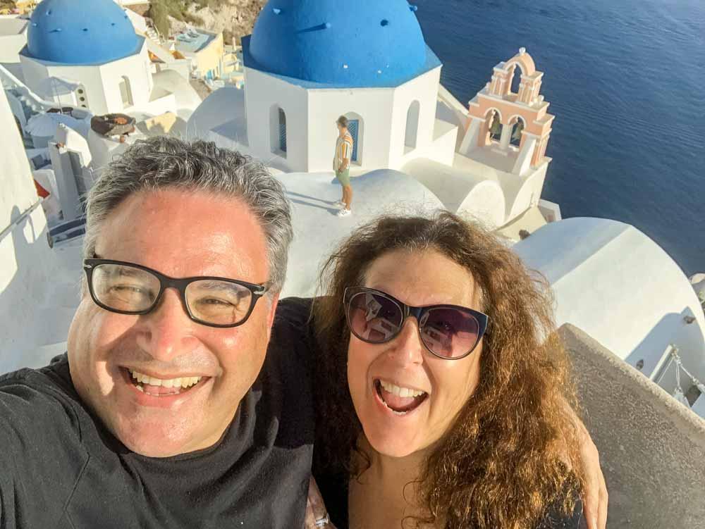 Oia Selfie in Santorini