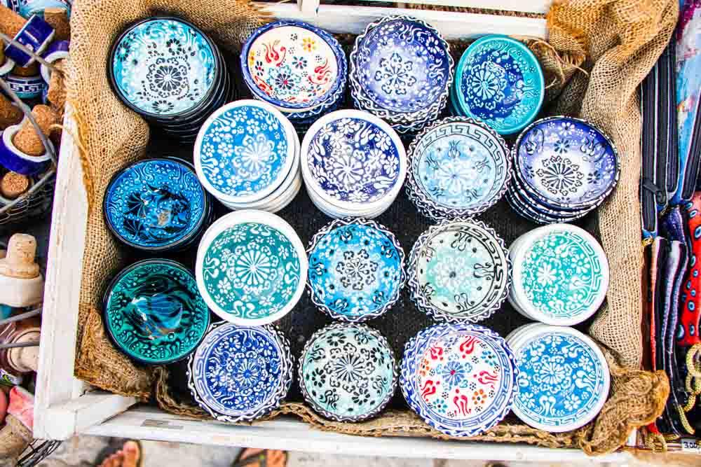 Souvenir Bowls for Sale Oia in Santorini