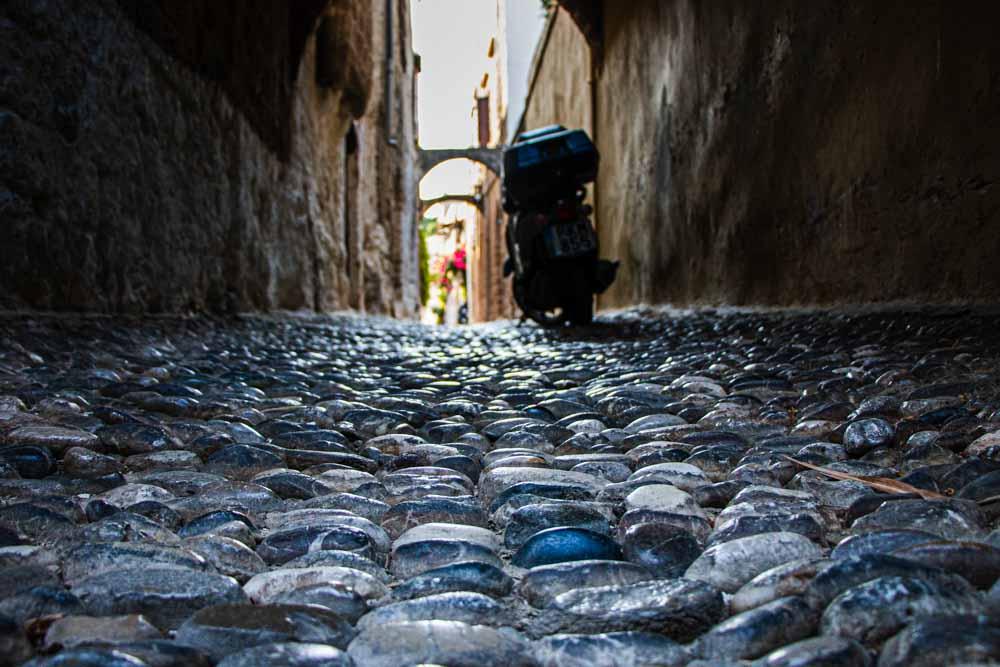 Stone Street in Rhodes Greece