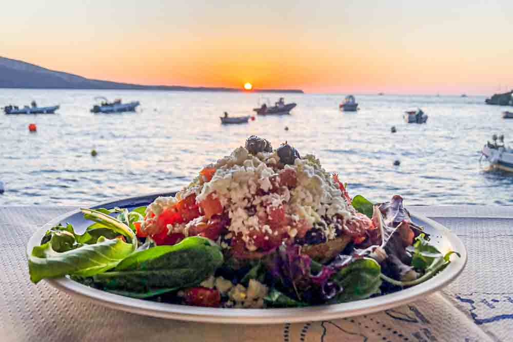 Sunset Salad at Dimitris Ammoudi Taverna in Santorini