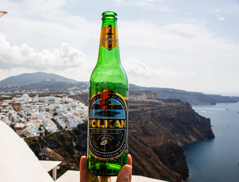 Volkan Beer at Volkan on the Rocks in Santorini
