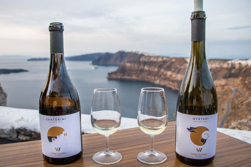 Wine Tasting at Venetsanos Winery in Santorini