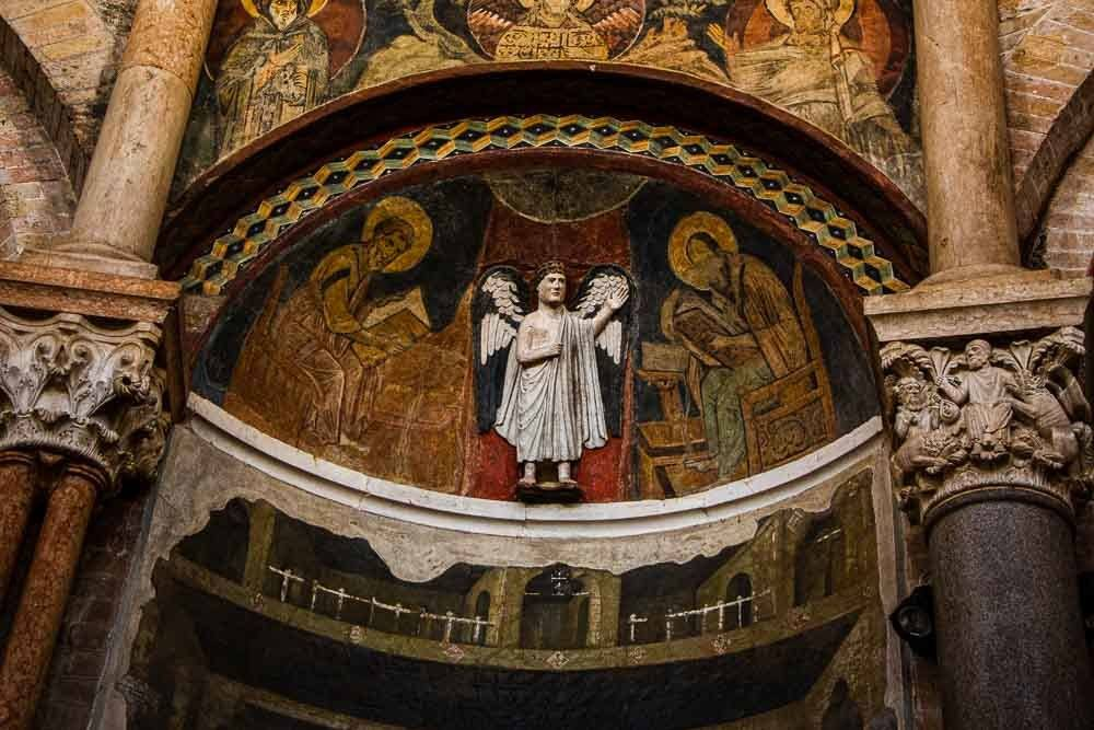 Art Inside the Baptistery of Parma Italy