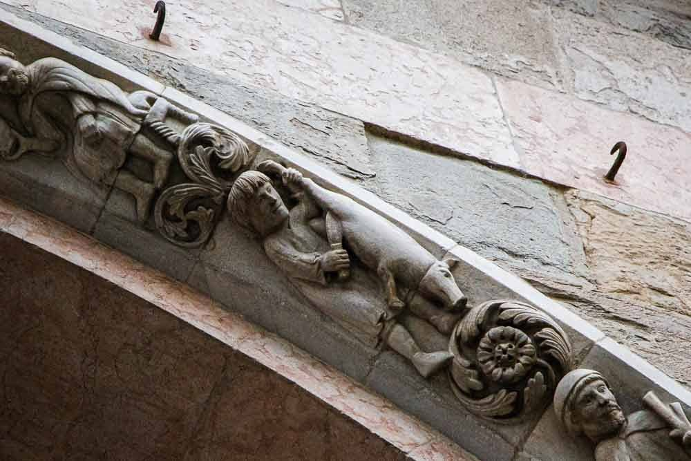Carvings on Parma Cathedral