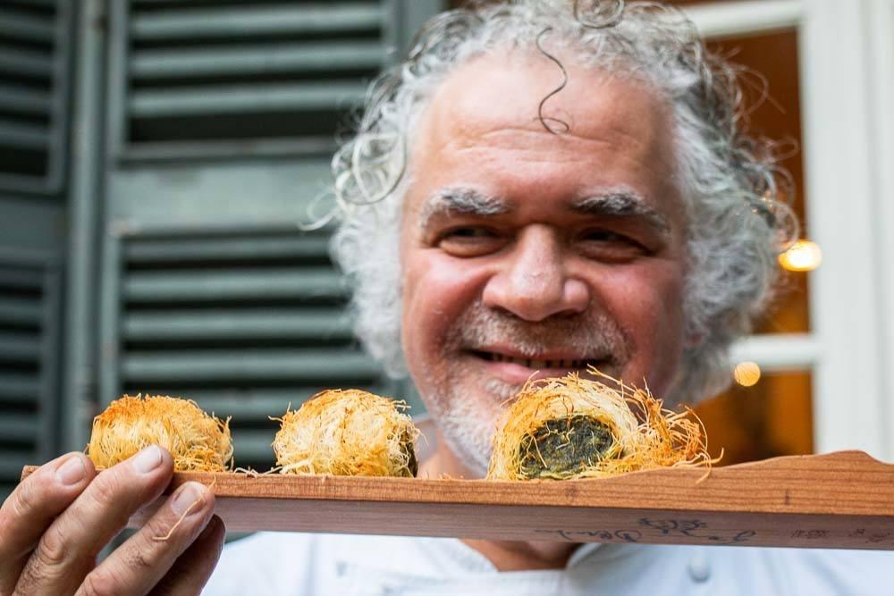 Chef Gianni dAmato at Caffe Arti E Mestieri in Reggio Emilia