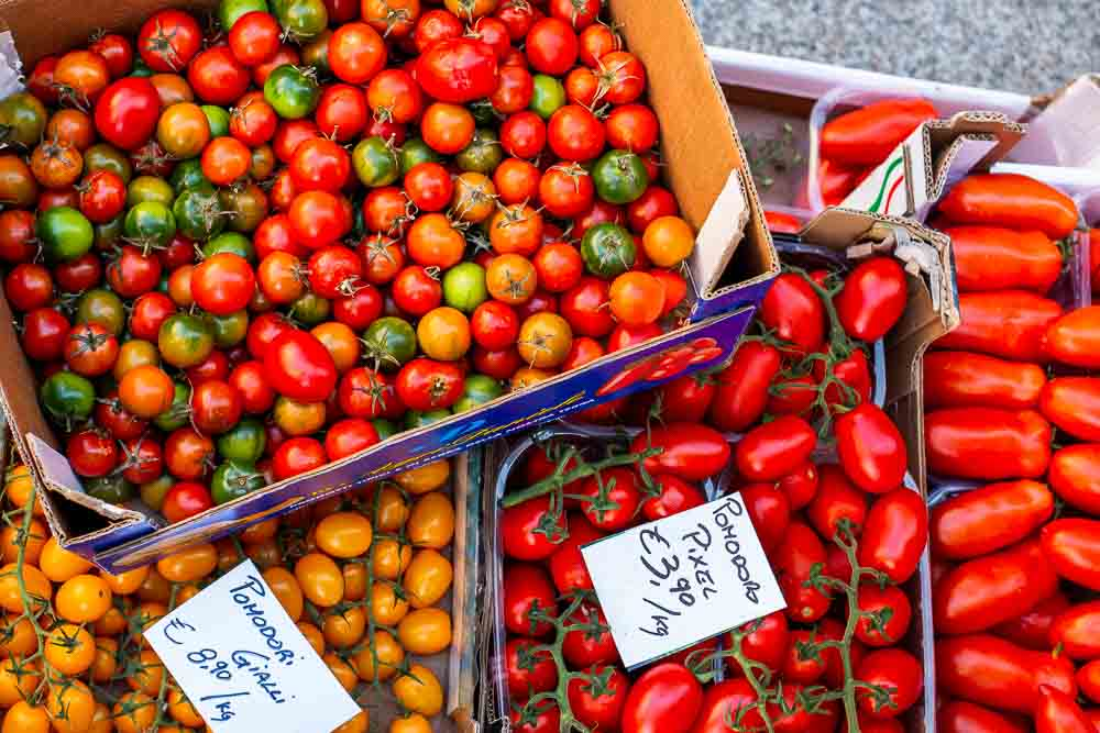 Colorful Tomatoes in Parma Italy