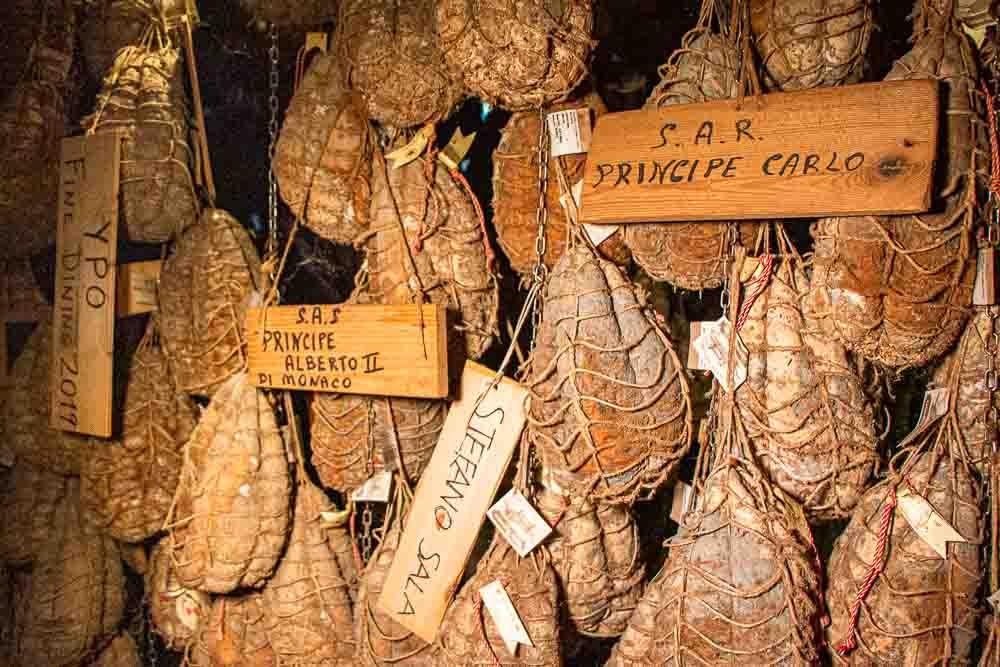 Culatello at Antica Corte Pallavicina in the Food Valley